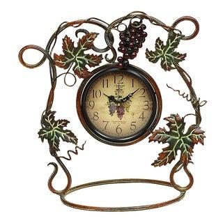 Merlot Metal Clock