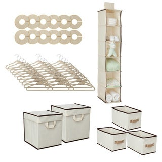 Delta 48-piece Nursery Closet Set in Beige
