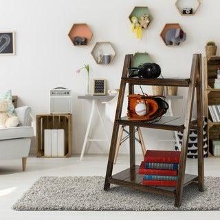 Manhasset Slatted 3-shelf Folding Bookcase