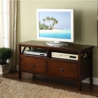 Linon Titian Brown Wood 44-inch TV Stand and Median Console