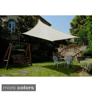 Cool Area 11.5-foot UV-blocking Sun Shade with Stainless Steel Hardware Kit