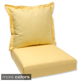 Pillow Perfect Deep Seating Cushion and Back Pillow with Sunbrella Fabric