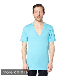 American Apparel Unisex Sheer Jersey Deep V-neck T-shirt