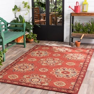 Hand-hooked Mila Contemporary Floral Indoor/ Outdoor Area Rug (2' x 3')