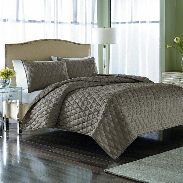 Nicole Miller Serenity Driftwood 3-piece Quilt Set