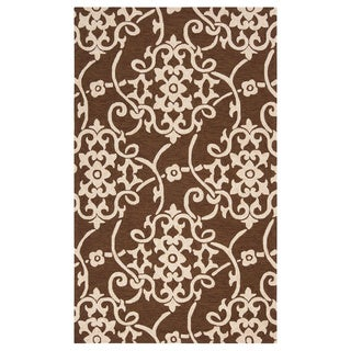 Hand-hooked Kiera Transitional Floral Indoor/ Outdoor Area Rug (8' x 10')