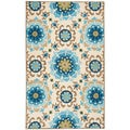 Hand-hooked Natalie Contemporary Floral Indoor/ Outdoor Area Rug (8' x 10'6)