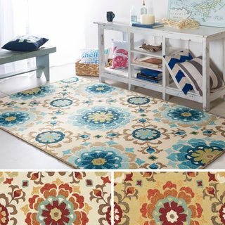 Hand-hooked Natalie Contemporary Floral Indoor/ Outdoor Area Rug (3'3 x 5'3)