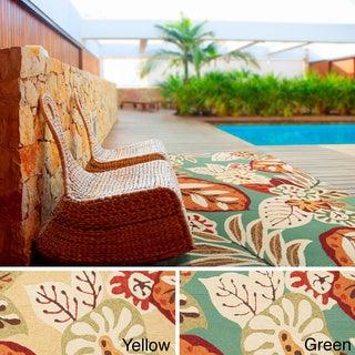 Hand-hooked Greta Transitional Floral Indoor/ Outdoor Area Rug (3'3 x 5'3)