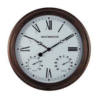 Henley Clock with Dual Thermometer
