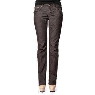 Stitch's Women's Brown Curvy Straight Leg Jeans