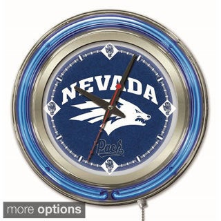 Holland Neon Mountain West College Logo Clock.