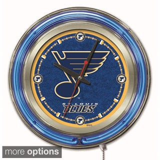 Holland US NHL Neon Logo Clock