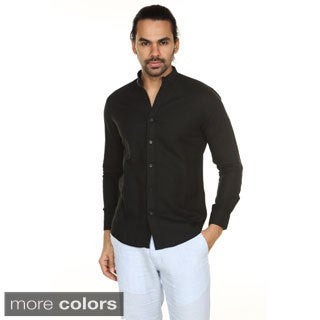 In-Sattva Anita Dongre Men's Mandarin Collar Button-down Shirt (India)