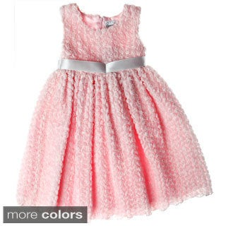 Sweetie Pie Girls Rosette Body Special Occasion Dress