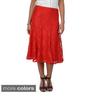 Journee Collection Women's Lace Flare Skirt