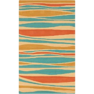 Meticulously Woven Bailee Striped Transitional Indoor/ Outdoor Area Rug (5' x 8')