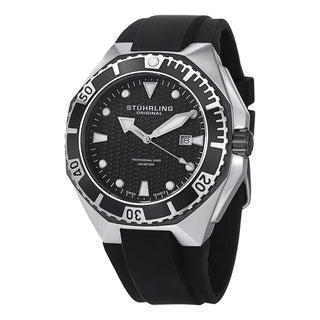 Stuhrling Original Men's Gen Hex Swiss Quartz Rubber Strap Watch