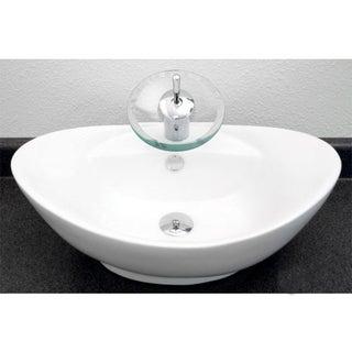 European Style Oval Shape 23-Inch Porcelain Ceramic Bathroom Vessel Sink