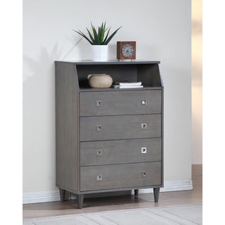 Marley Light Charcoal Grey 4-drawer Chest
