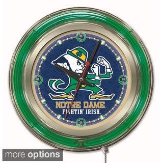 Holland Neon College Team Logo Clock