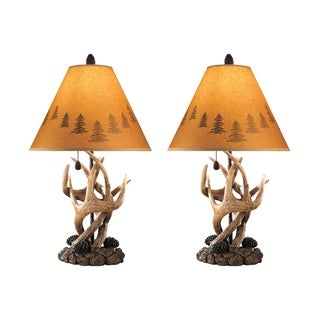 Signature Design by Ashley Derek Brown Poly Table Lamps (Set of 2)