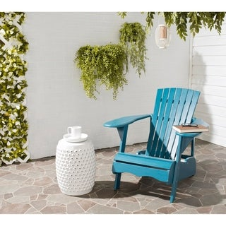 Safavieh Outdoor Living Mopani Adirondack Blue Acacia Wood Chair