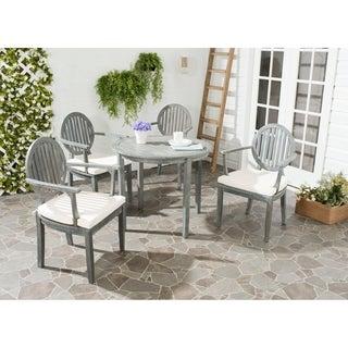 Safavieh Outdoor Living Chino Ash Grey Acacia Wood 5-piece Beige Cushion Dining Set