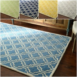 nuLOOM Hand-tufted Lattice Wool Rug (7'6 x 9'6)