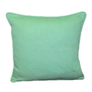 French Woven Teal Decorative Throw Pillow