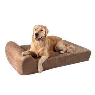 Big Barker 7-inch Pillowtop Orthopedic Dog Bed Headrest Edition