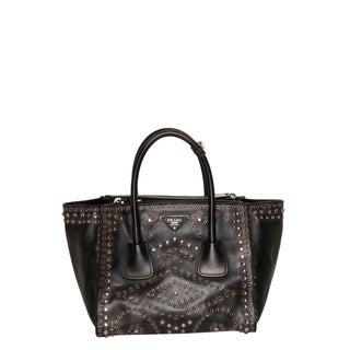 Prada Vintage Embellished Leather Tote