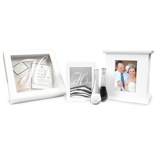 Personalized White 3-piece Shadow Box Set