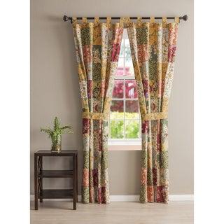 Antique Chic Patchwork Curtain Panel Pair