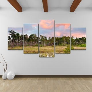 Bruce Bain 'Tree Line' Canvas Wall Art (5-piece Set)