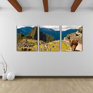 Bruce Bain 'Machu Picchu' Canvas Wall Art (3-piece Set)