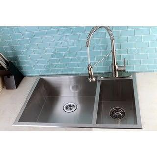 Topmount 33-inch Double Bowl Stainless Steel Kitchen Sink