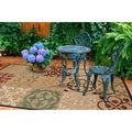 Meticulously Woven Ariel Transitional Geometric Indoor/ Outdoor Area Rug (5' x 7'6)