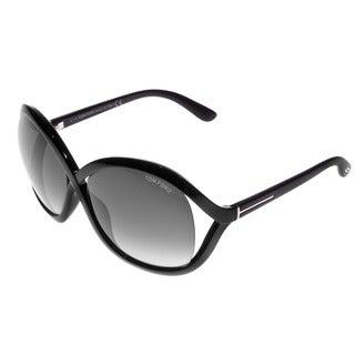Tom Ford Women's FT0297 Sandra 01B Shiny Black Sunglasses