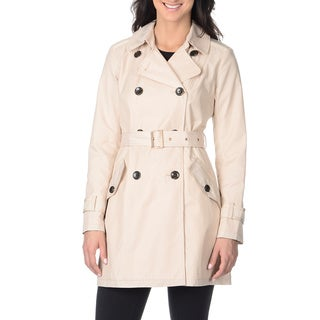 Vince Camuto Women's Bone Double-breasted Trench Coat