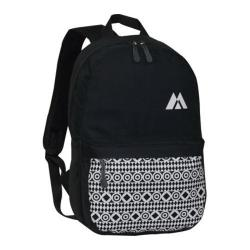 Everest Printed Pattern Backpack Black