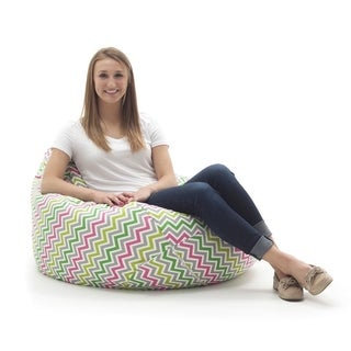 BeanSack Large Tear Drop Zig Zag Bean Bag Lounge Chair