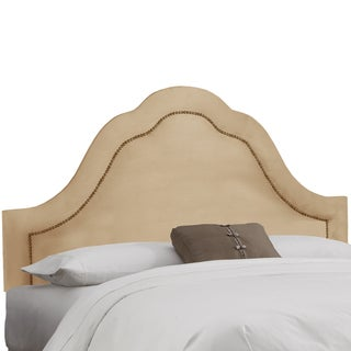 Made to Order High Arch Oatmeal Headboard with Nails