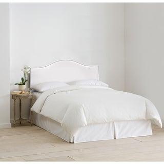 Skyline Furniture Nail Button Headboard in Velvet White