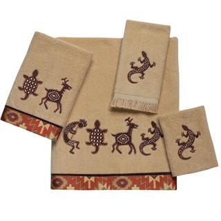Avanti Segovia Tan Embellished 4-piece Towel Set