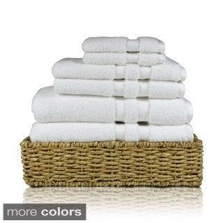 100-percent Cotton Solid Color 6-piece Towel Set