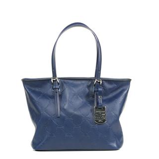 Longchamp LM Cuir Small Navy Tote Bag