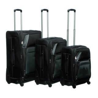 Tommy Bahama Course 3-piece Expandable Spinner Luggage Set