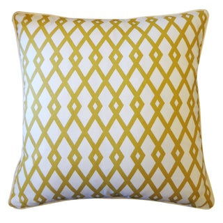 Moderna Gold Geometric 20x20-inch Pillow