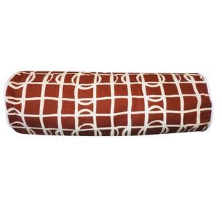 Planet Brown Geometric 7x21-inch Pillow